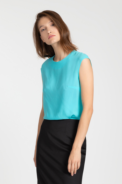 цена на Базовая блузка с округлым воротом VASSA&Co