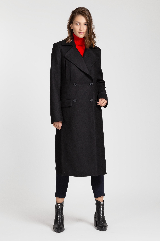 Пальто двубортное прямого кроя VASSA&Co пальто vassa
