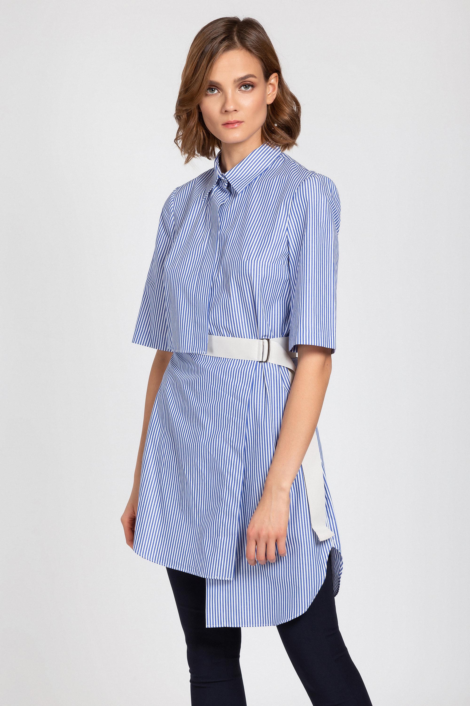 Удлиненная блузка в полоску VASSA&Co