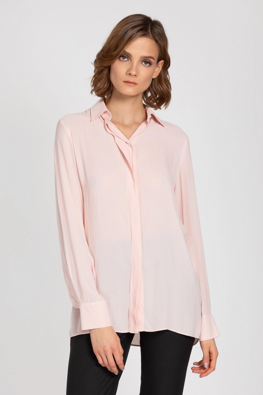 Классическая блузка прямого силуэта VASSA&Co
