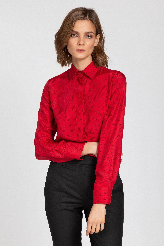 Классическая блузка из натурального шелка VASSA&Co