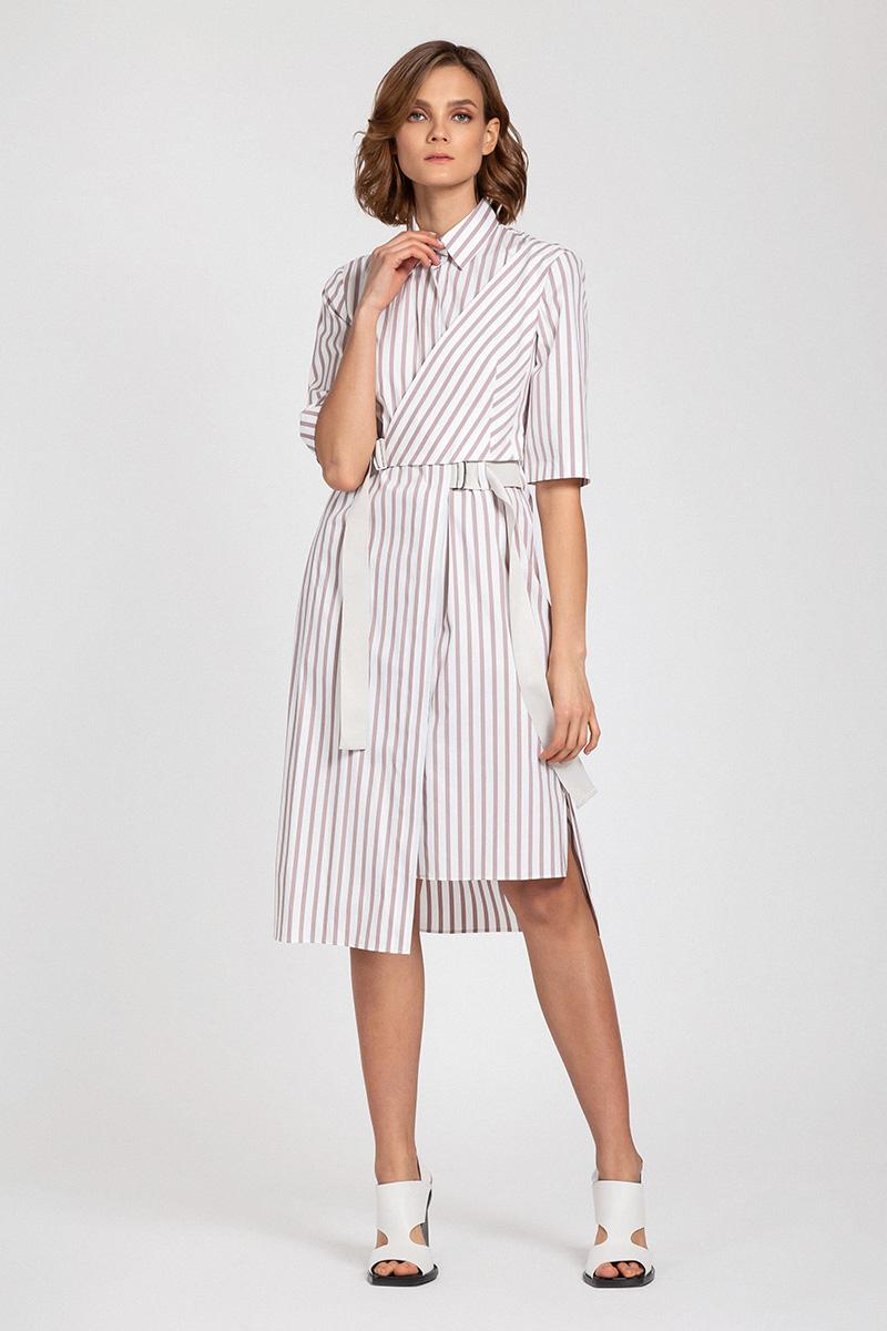 Платье рубашка со съемной деталью VASSA&Co пальто vassa
