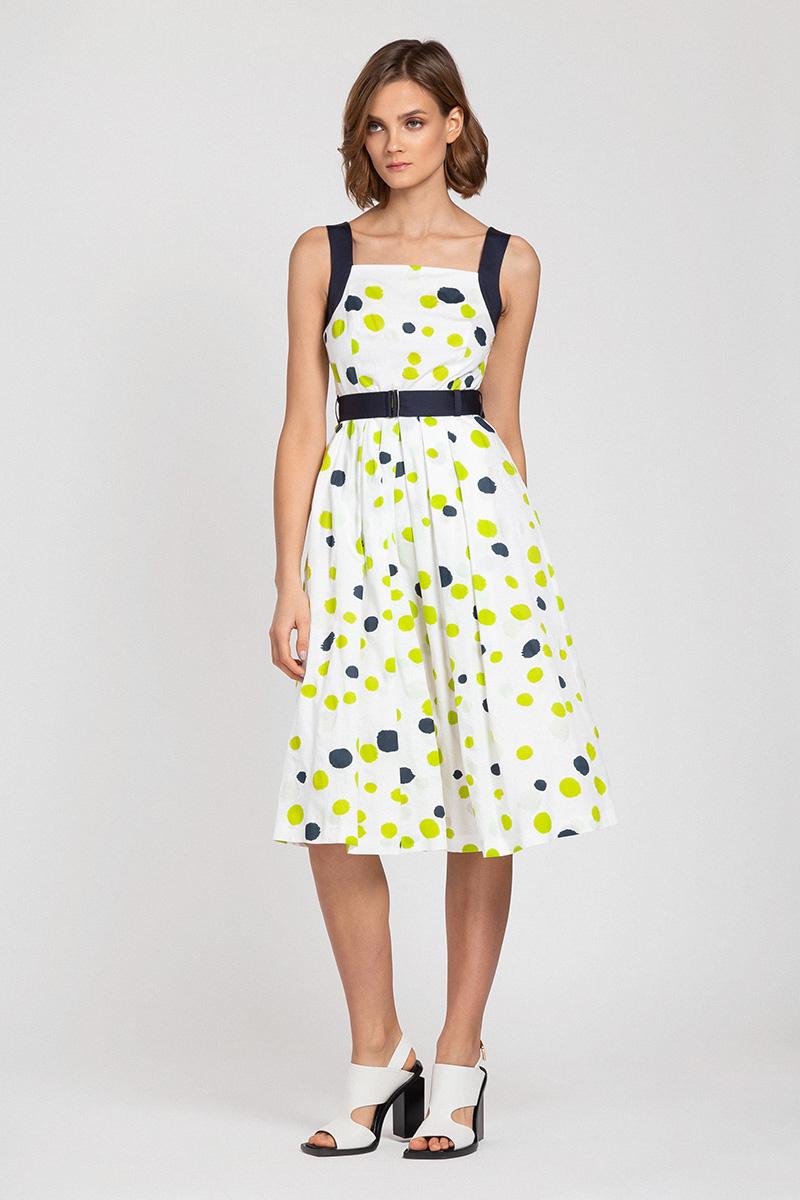 Платье-сарафан с расклешенной юбкой и принтом VASSA&Co