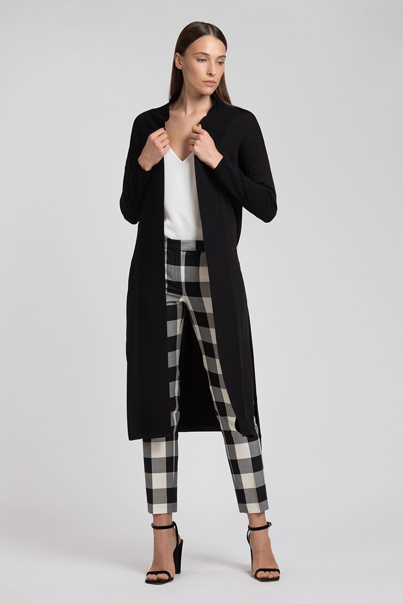 Удлиненный кардиган с поясом VASSA&Co пальто vassa