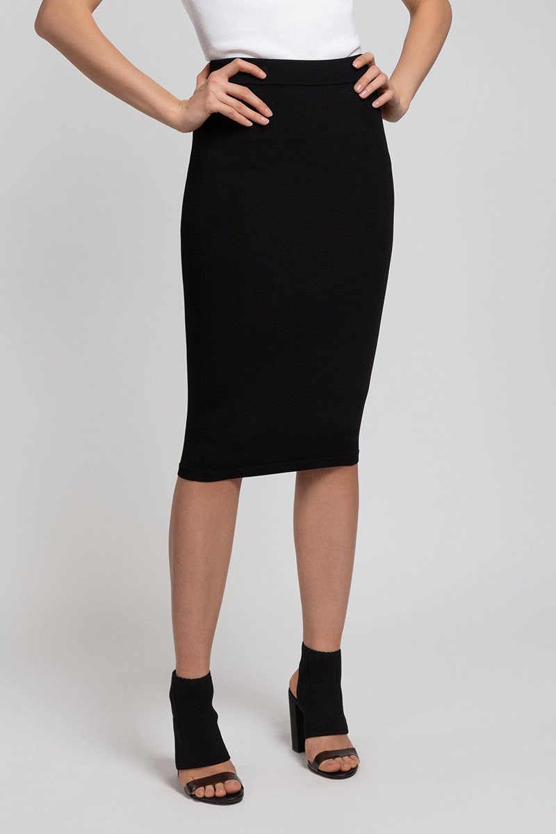 Трикотажная юбка зауженного силуэта VASSA&Co цена и фото