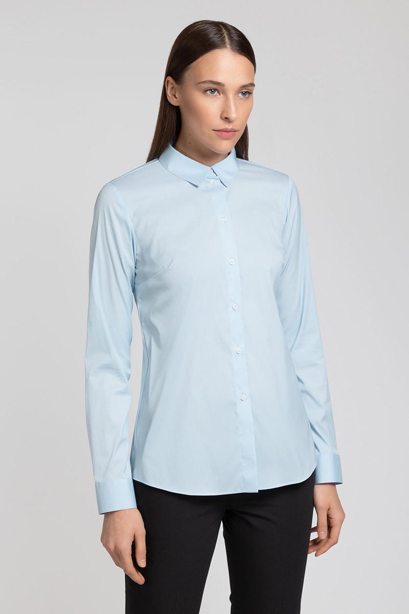 Классическая блузка с центральной застежкой VASSA&Co