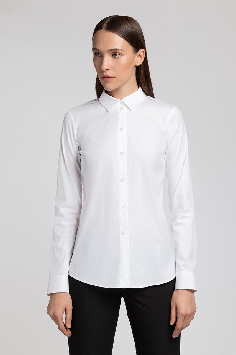 Классическая блузка с центральной застежкой VASSA&Co фото