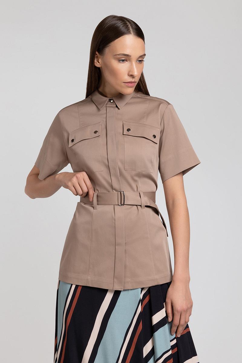 Блузка на кнопках в стиле сафари VASSA&Co