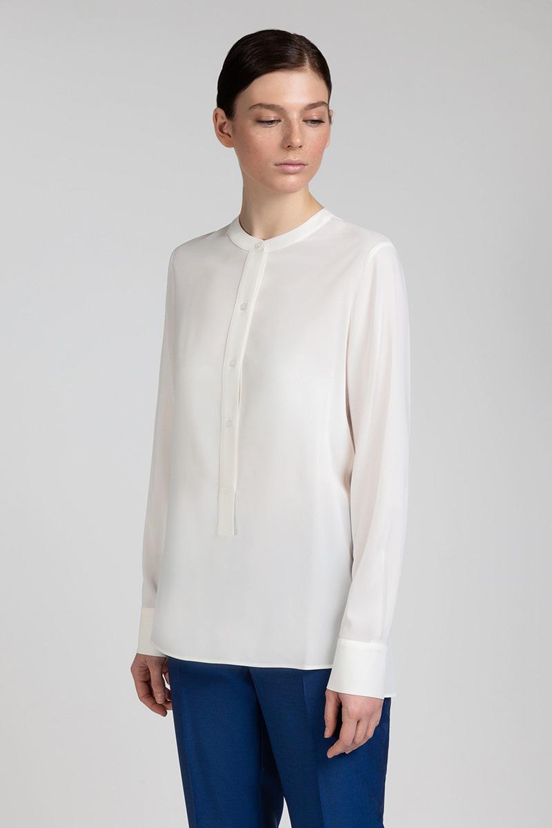 Блузка из вискозы с удлиненной спинкой VASSA&Co