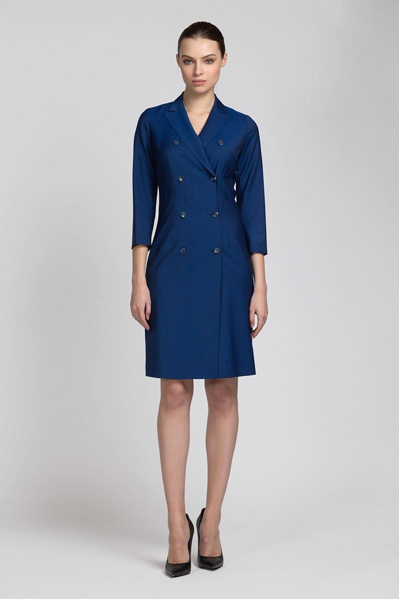 Двубортное приталенное платье из шерсти VASSA&Co