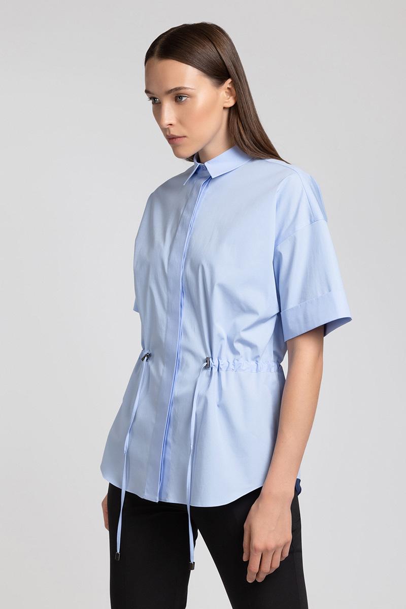 Блузка с коротким рукавом на кулиске VASSA&Co