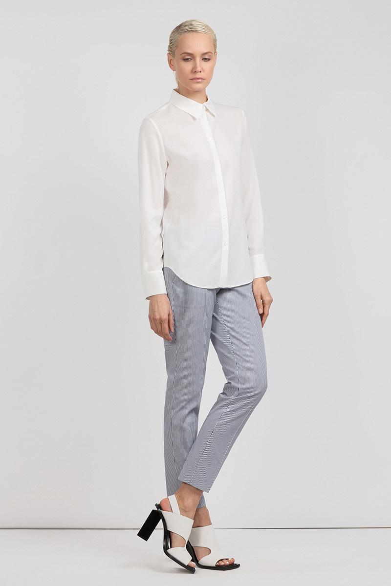 Однотонная блузка из вискозы на пуговицах VASSA&Co