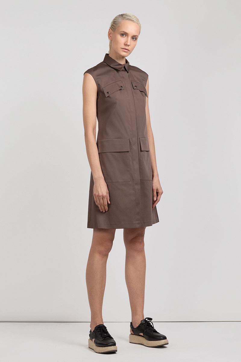Платье трапеция в стиле сафари VASSA&Co все цены