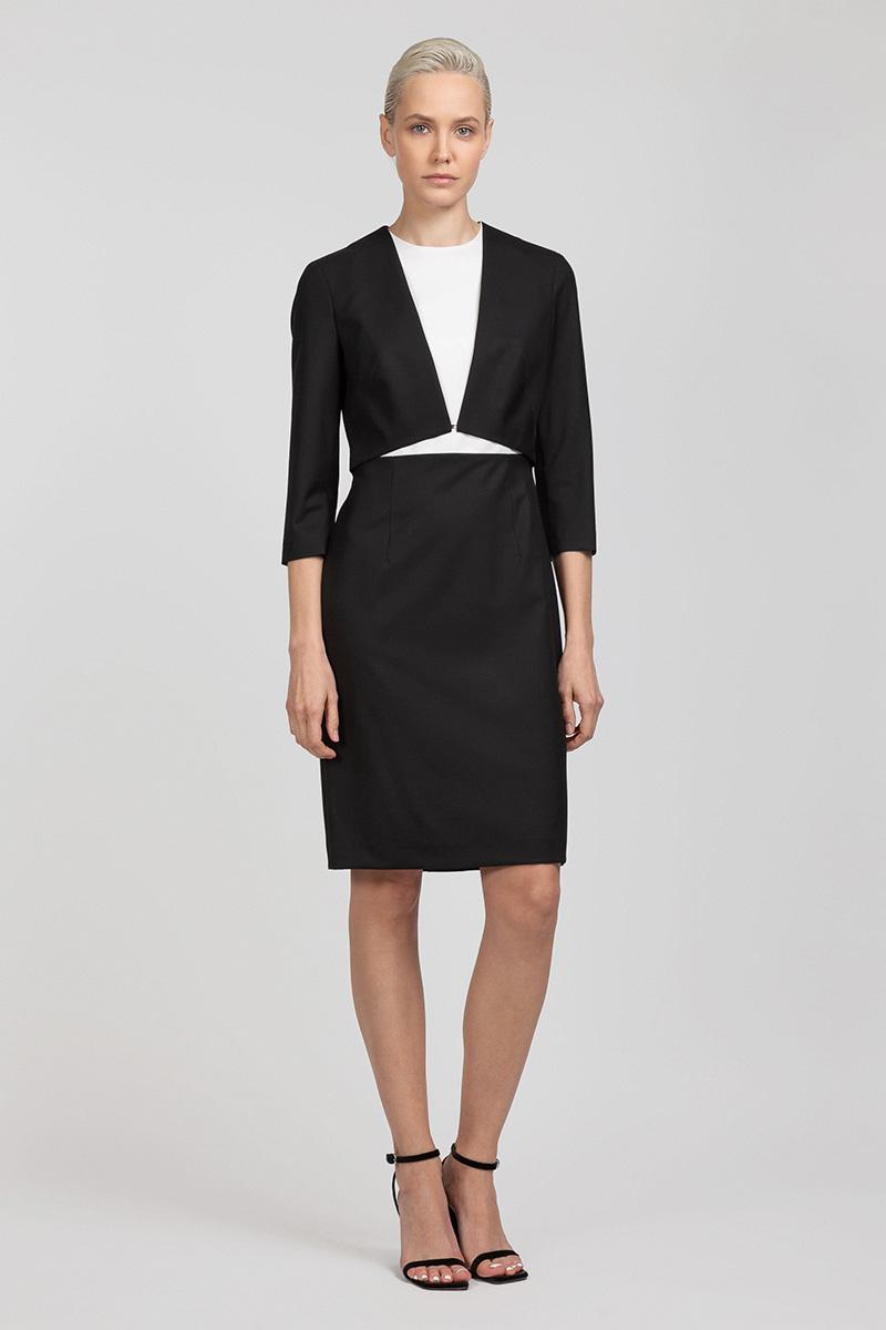 Приталенное платье с имитацией жакета-болеро VASSA&Co