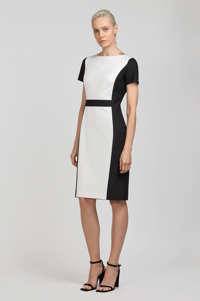 Контрастное платье приталенного силуэта VASSA&Co