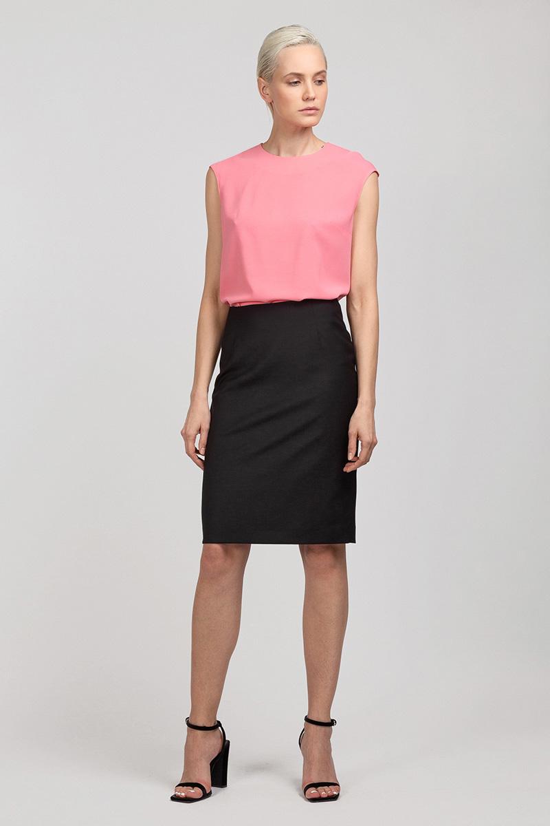 Базовая блузка с округлым воротом VASSA&Co фото