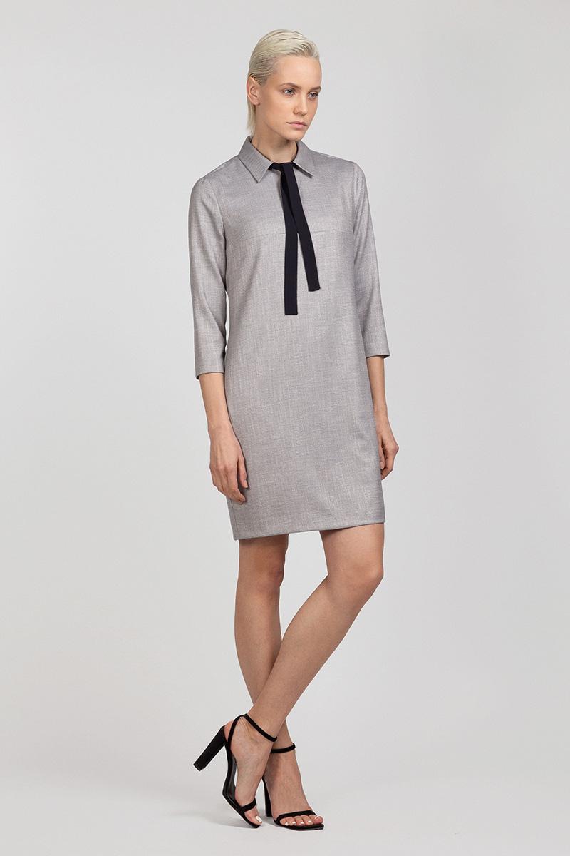 Платье из фактурной ткани прямого силуэта VASSA&Co