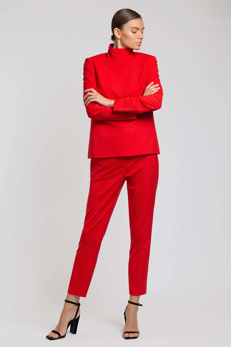 Укороченные брюки зауженного кроя VASSA&Co фото