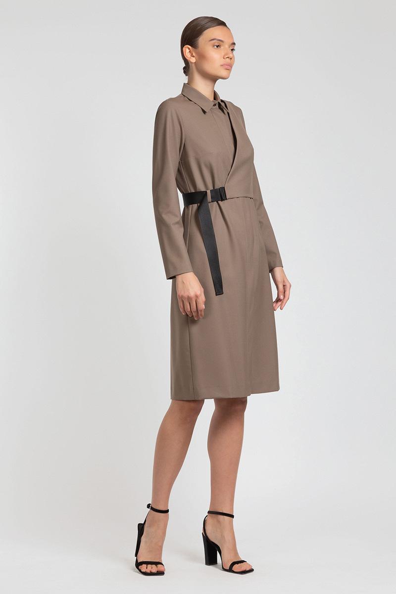 Платье-рубашка с асимметричной деталью VASSA&Co