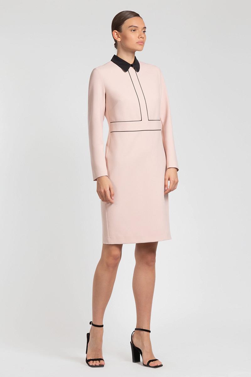 Закрытое платье с контрастной отделкой VASSA&Co