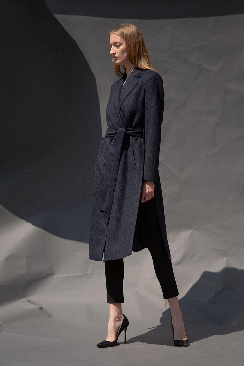 все цены на Шерстяное пальто с кокеткой VASSA&Co онлайн