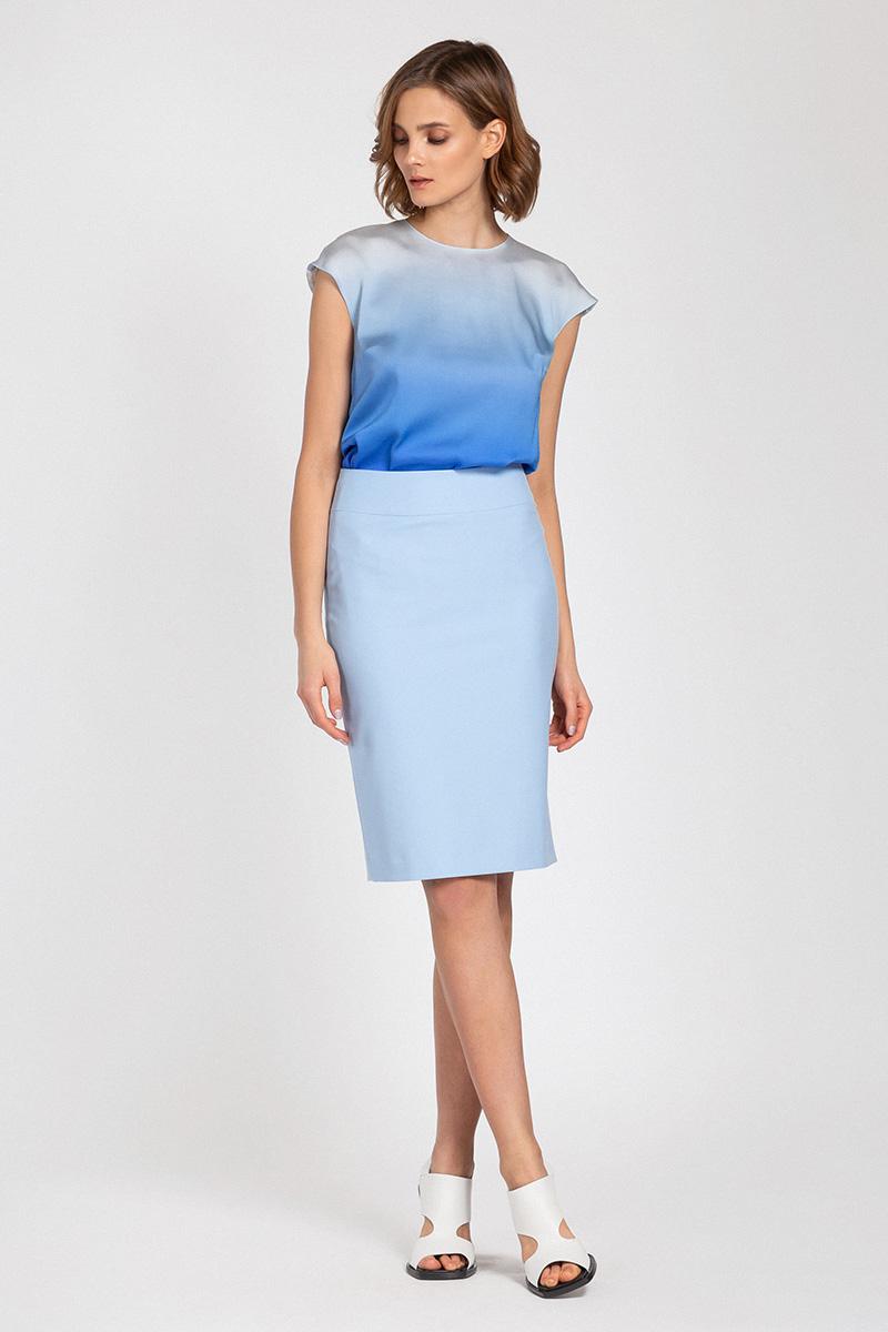 Классическая юбка на широком поясе VASSA&Co