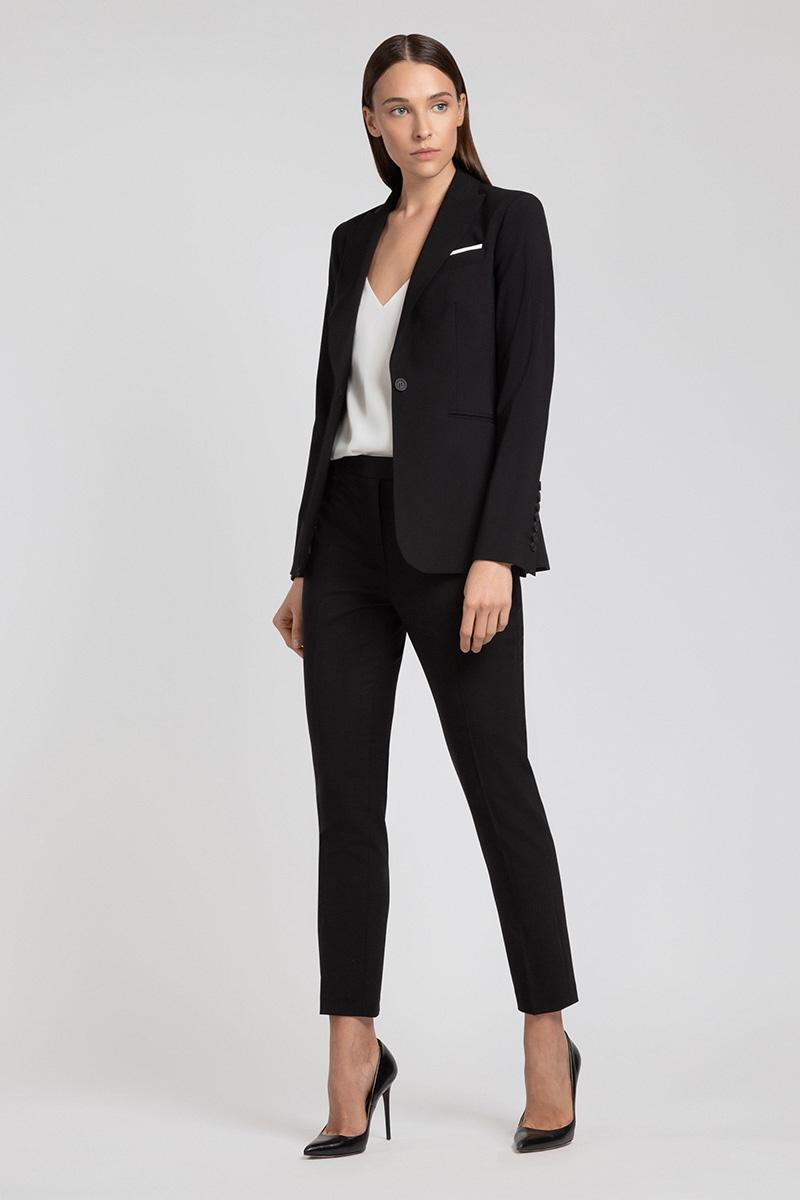 Зауженные шерстяные брюки VASSA&Co
