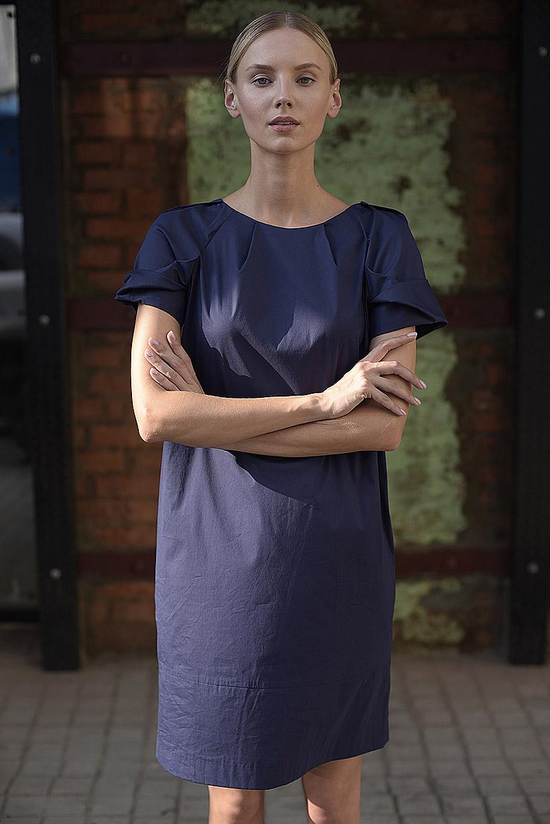 Летнее платье баллон из хлопка с коротким рукавом VASSA&Co