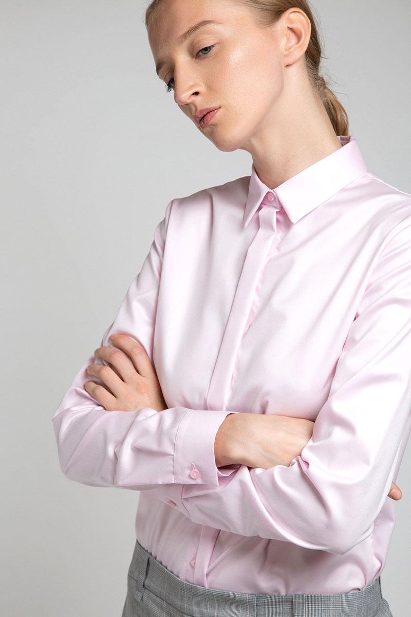 Хлопковая блузка рубашечного кроя VASSA&Co фото
