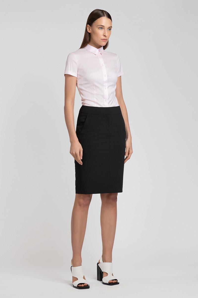 Юбка-карандаш с боковыми карманами VASSA&Co юбка карандаш с перепадом длины и лампасами vassa