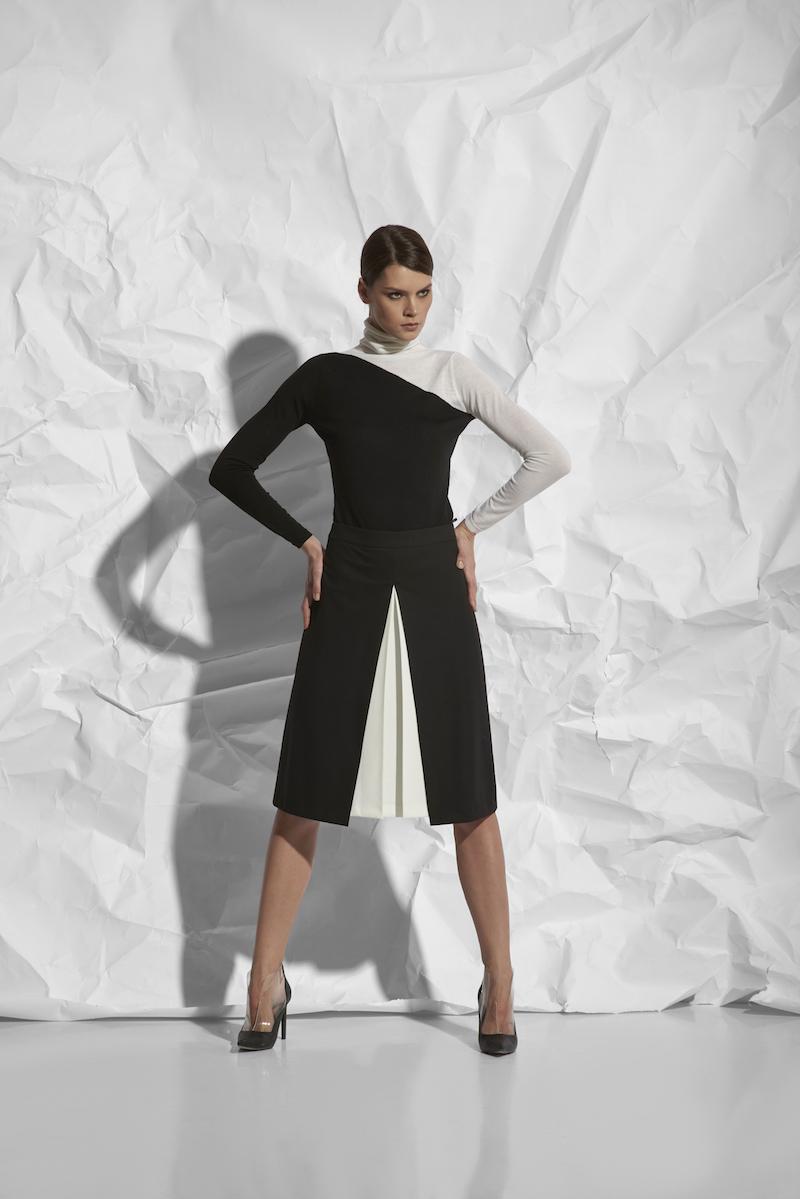 Расклешенная юбка со складками VASSA&Co