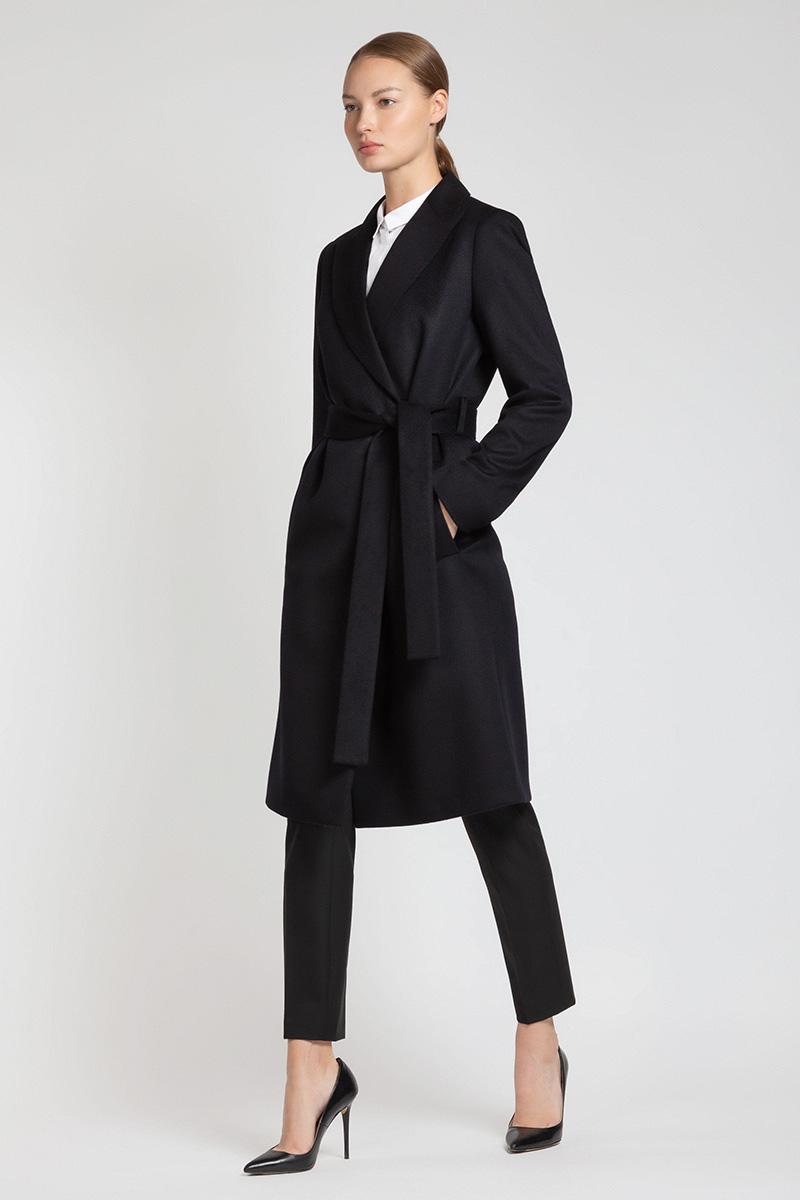 Классическое пальто с поясом VASSA&Co удлиненный кардиган с поясом vassa