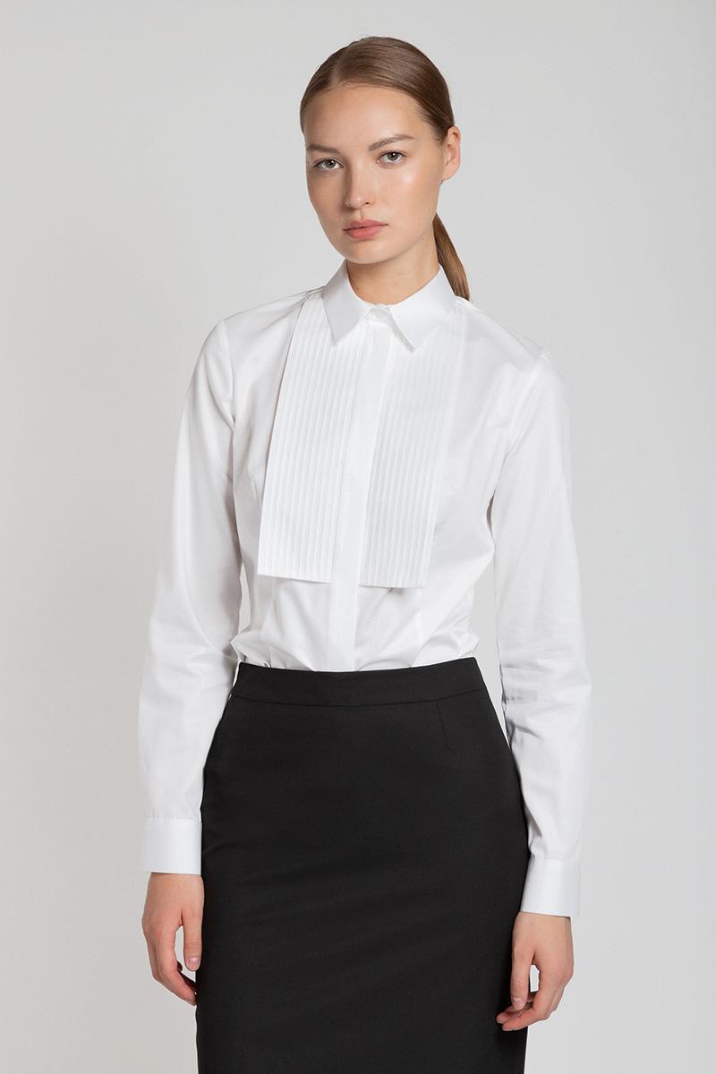 Хлопковая блузка с манишкой VASSA&Co фото