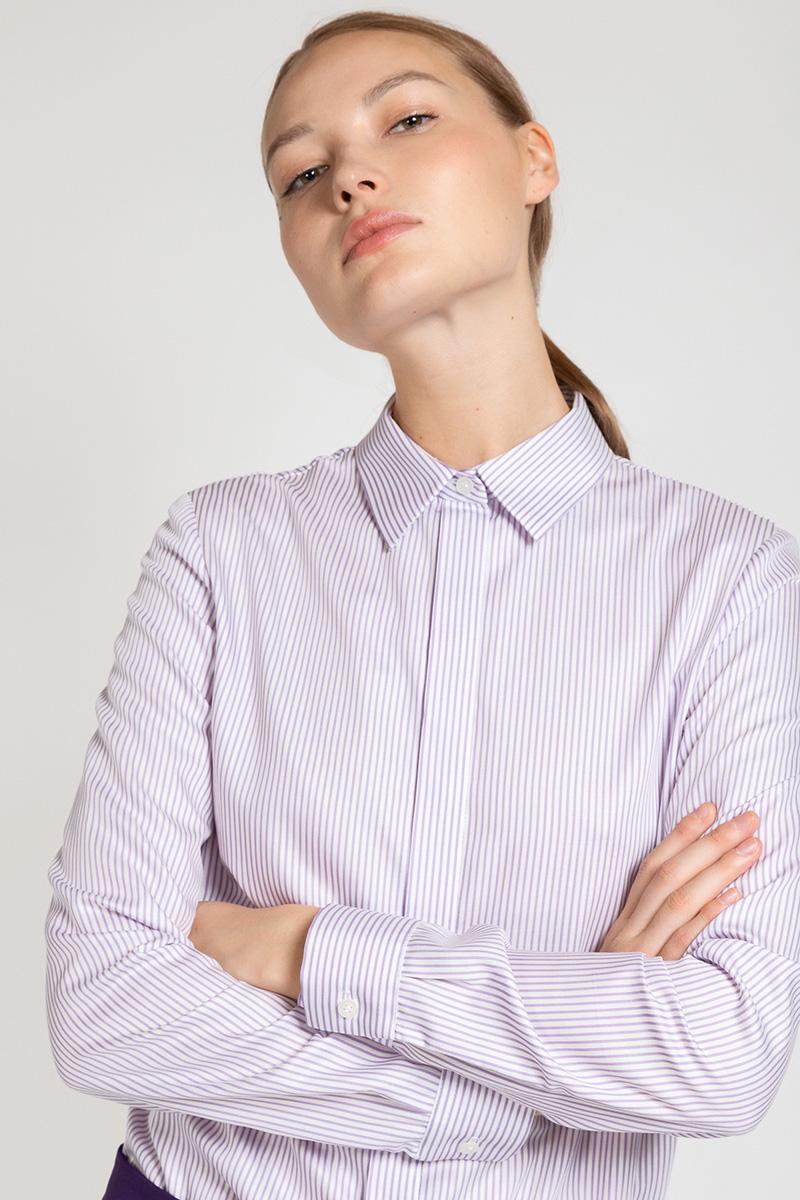 Хлопковая блузка с отложным воротником VASSA&Co пиджак с отложным воротником b young