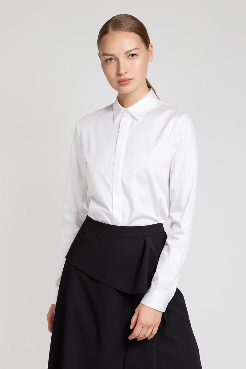 Классическая блузка из хлопка VASSA&Co фото