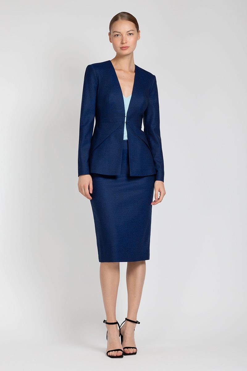 Зауженная юбка из шерсти VASSA&Co юбка карандаш из хлопка vassa