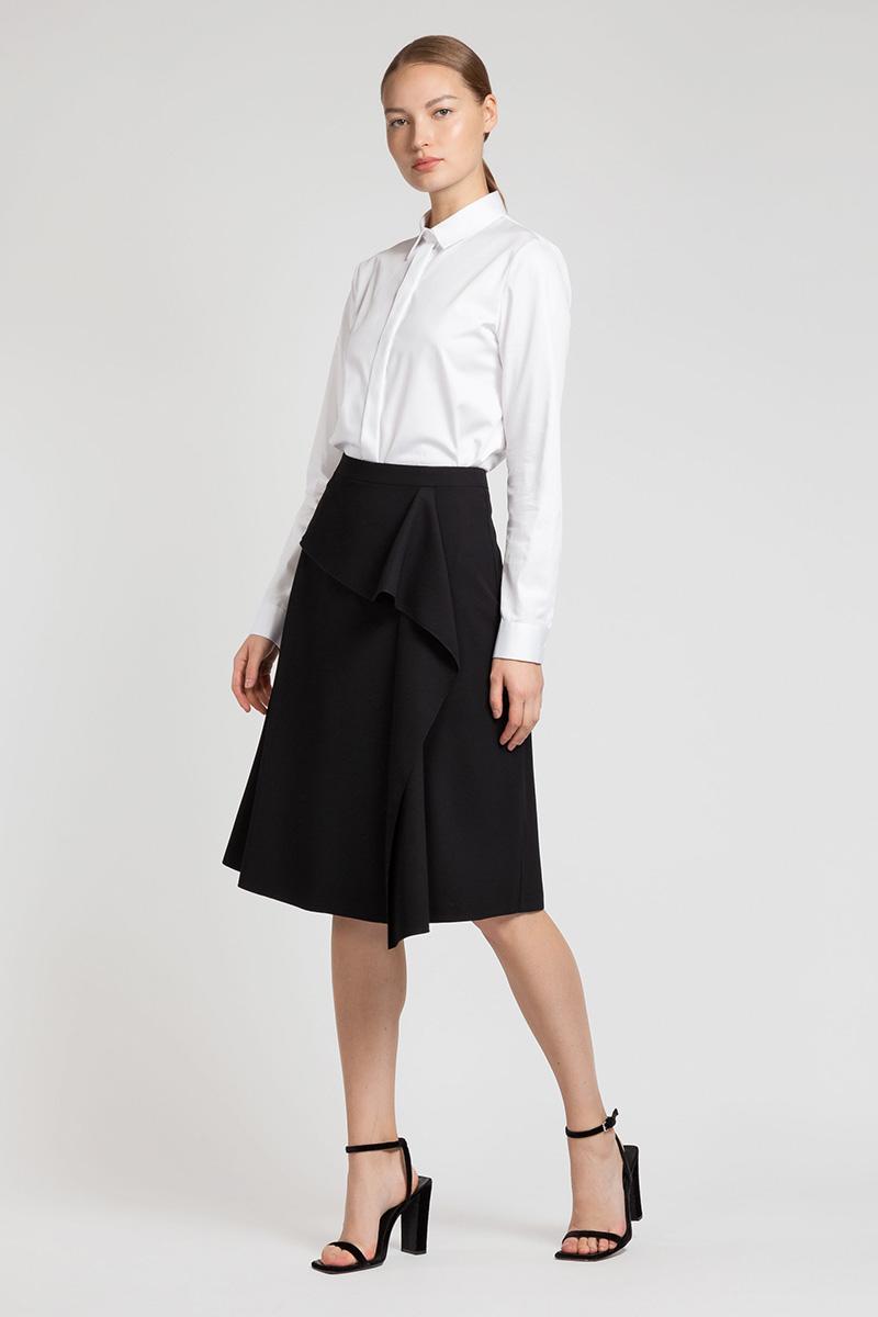 Расклешенная юбка с драпировкой VASSA&Co