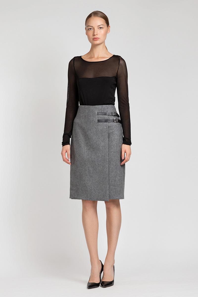 Зауженная юбка с запахом VASSA&Co