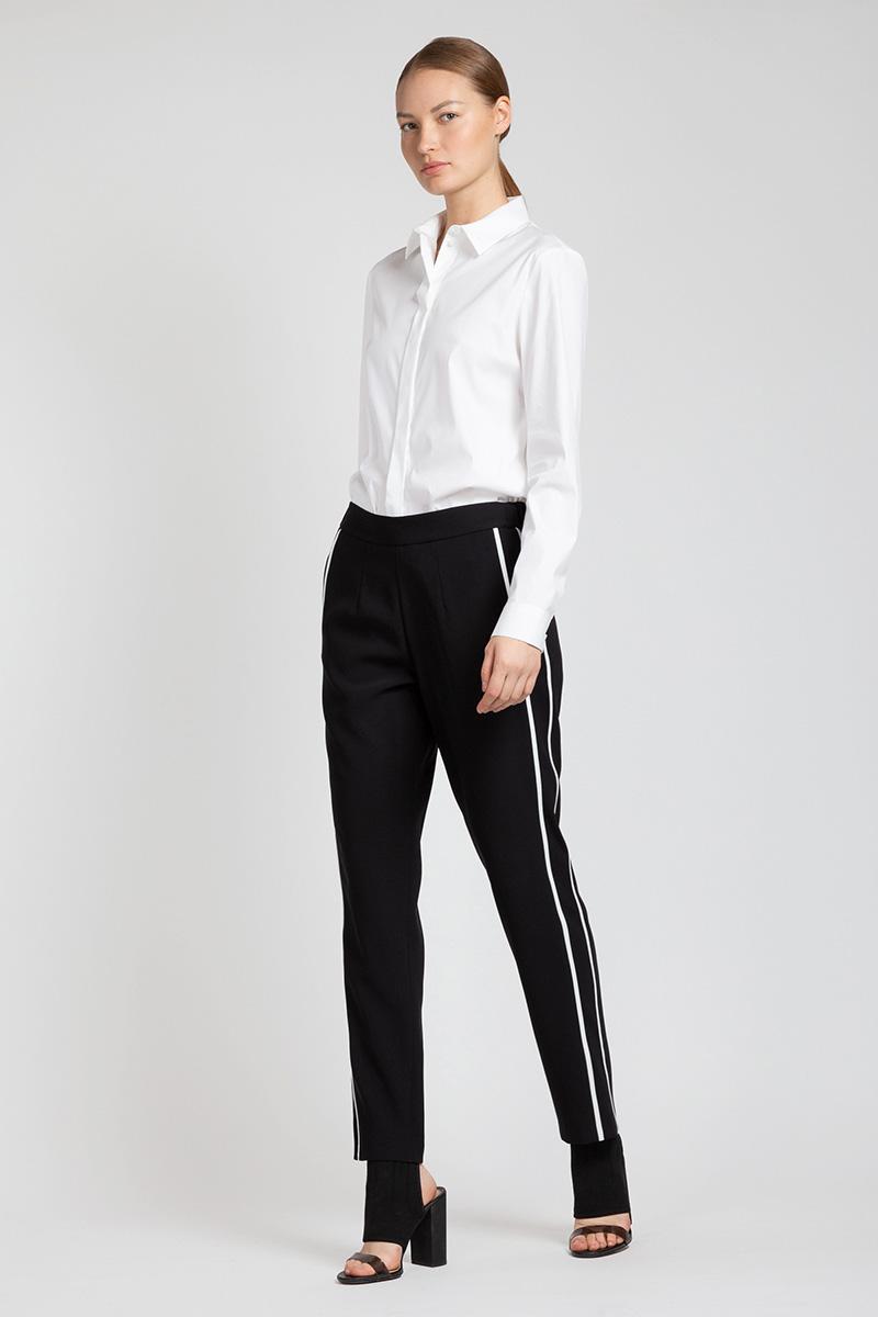 Зауженные брюки с эластичным поясом VASSA&Co удлиненный кардиган с поясом vassa