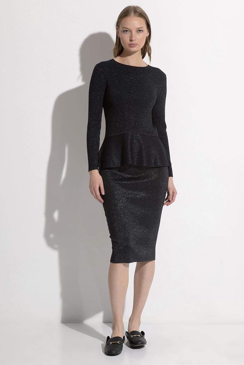Юбка из фактурного трикотажа VASSA&Co юбка карандаш из хлопка vassa