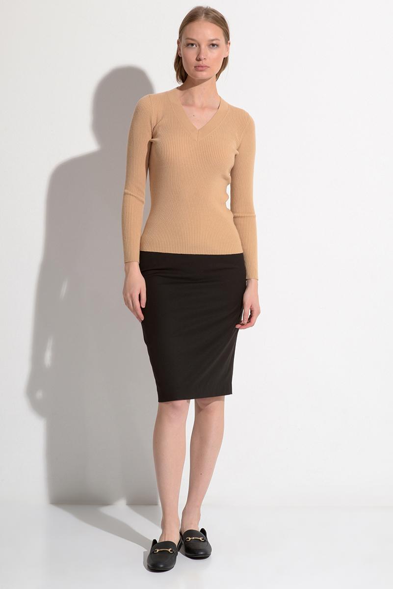 Классическая юбка с контрастным кантом VASSA&Co