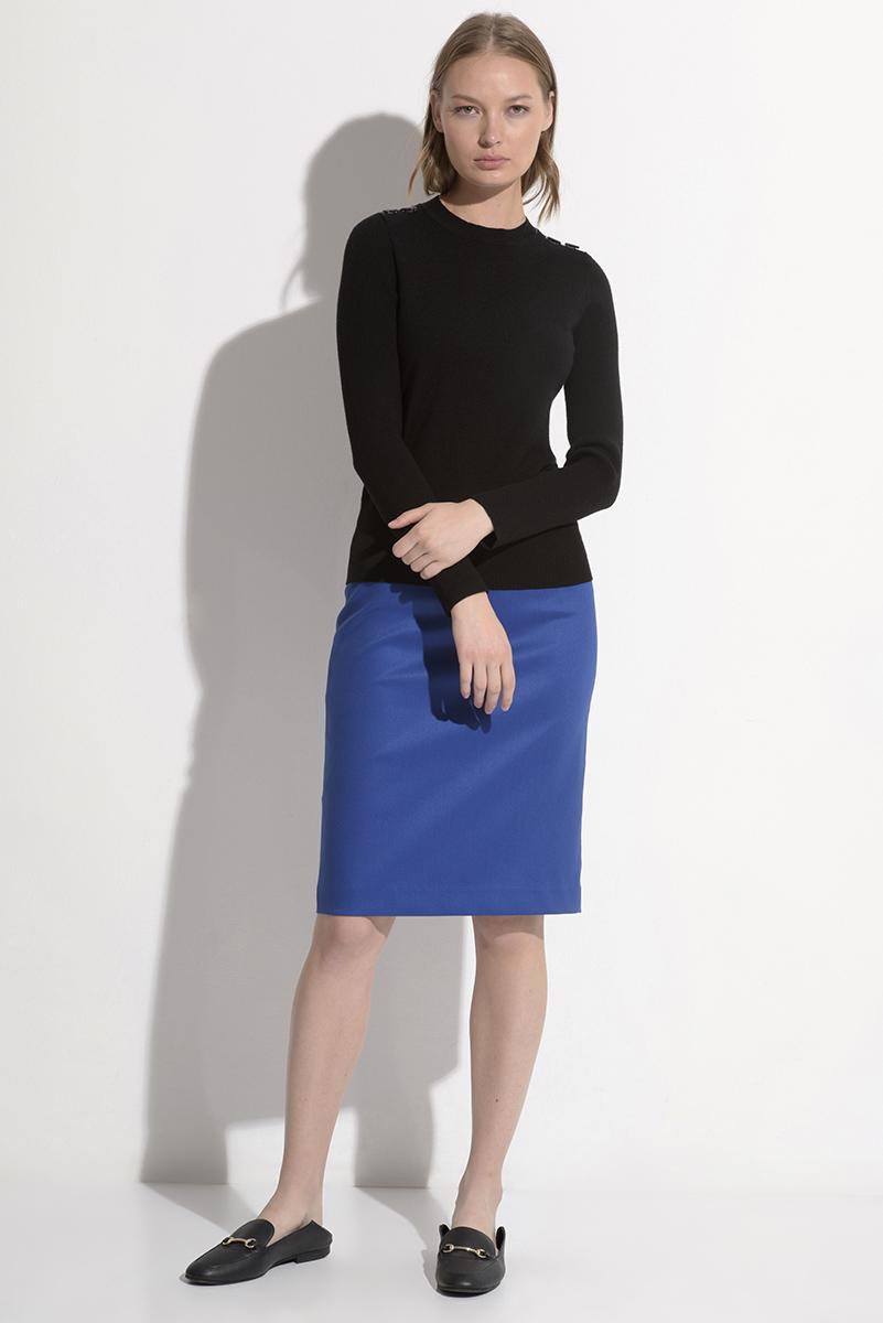 Классическая юбка синего цвета VASSA&Co