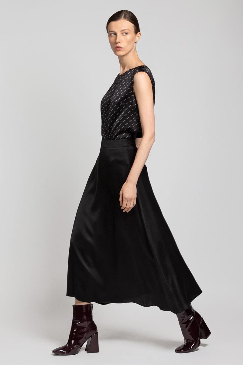 Расклешенная юбка-миди из вискозы VASSA&Co