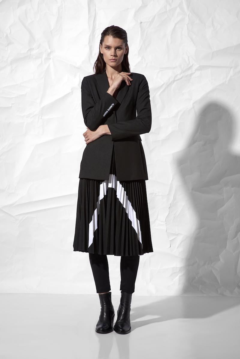 Плиссированная юбка с контрастной отделкой VASSA&Co