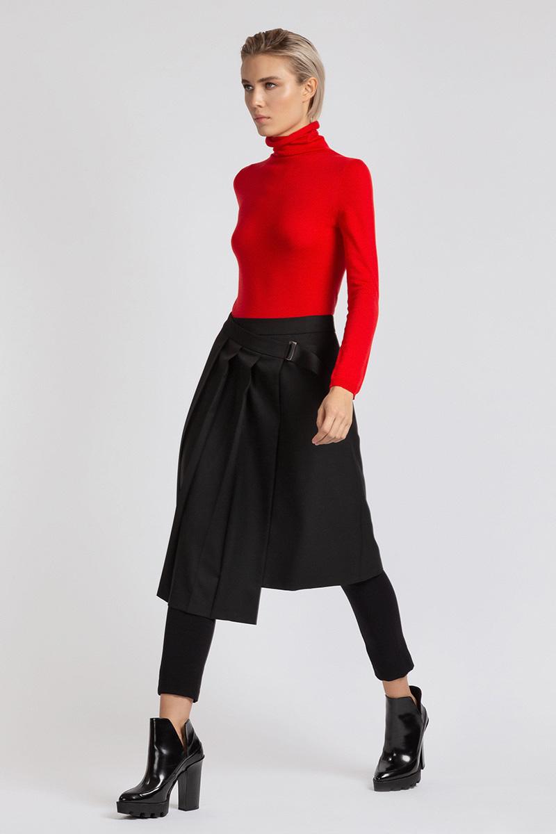Расклешенная юбка миди с запахом VASSA&Co