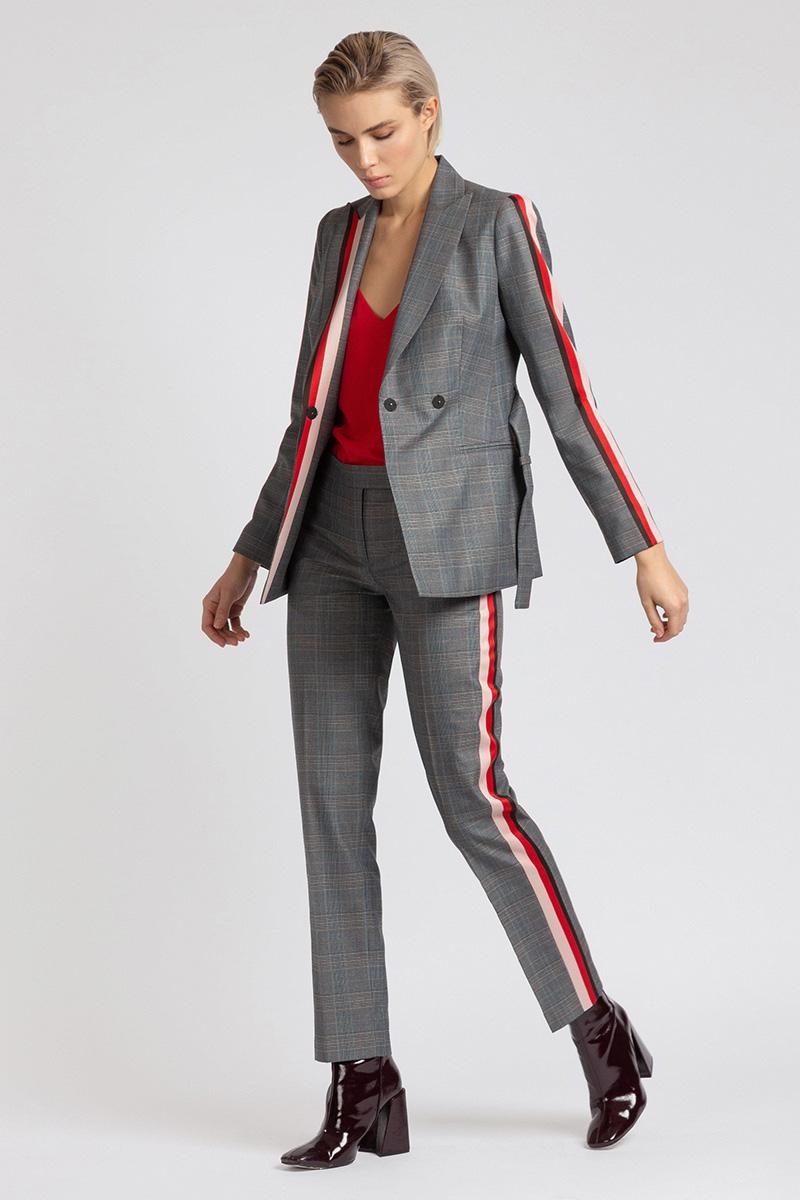 Зауженные брюки с яркой отделкой VASSA&Co фото