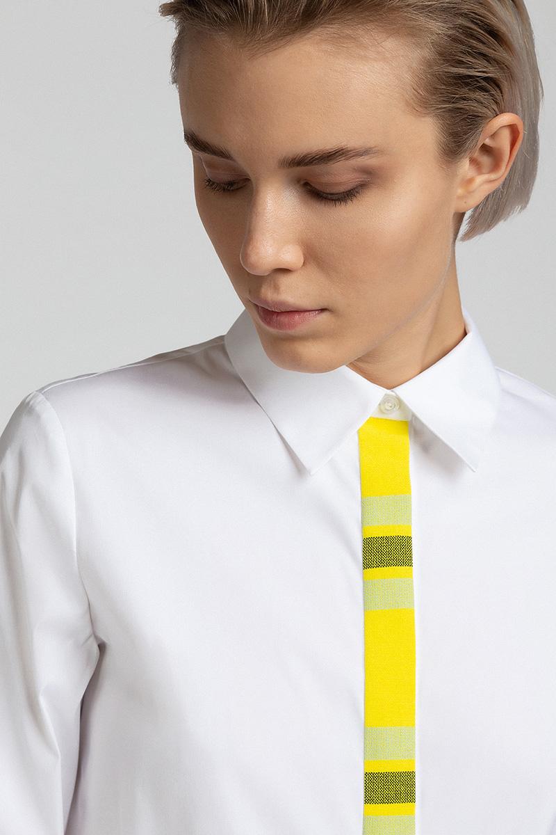 Блузка с отделкой из костюмной ткани VASSA&Co фото