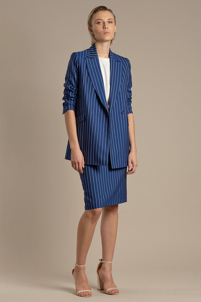 Классическая юбка из шерстяной ткани VASSA&Co фото