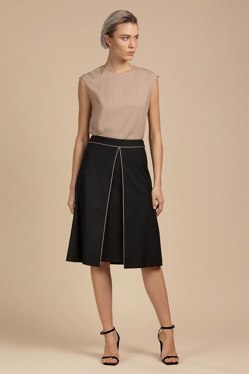 Расклешенная юбка с кантом VASSA&Co фото
