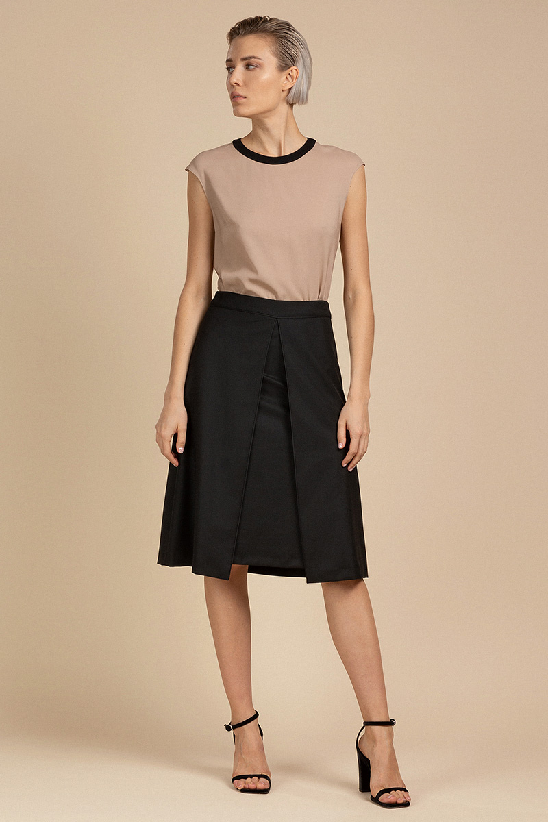 Расклешенная юбка с кантом VASSA&Co